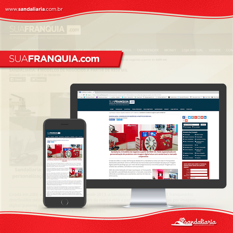 Portal SuaFranquia.com destaca modelos de Micro Franquia Sandaliaria