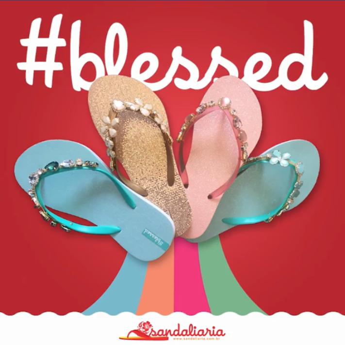 Linha de sandálias #blessed lança nova coleção